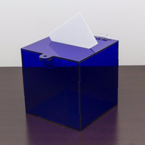 Urna Sorteio Acrilico Azul