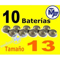 10 Baterias Aparato Auditivo Varios Tamaños 13