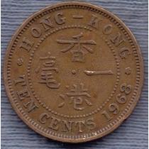 Hong Kong 10 Cents 1963 * Colonia Inglesa * Elizabeth Ii *