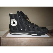 Zapatillas Converse Mujer N° 38 - Negro Con Rayas Blancas