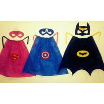 Envio Gratis Souvenirs Capas Superheroes Antifaz Disfraz X20