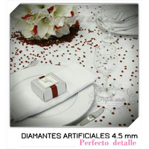 4000 Diamantes De Acrilico 4.5 Mm Para Decoración De Mesas