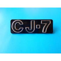 Emblema Cj-7 Willys Jeep