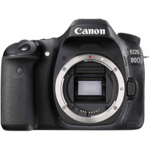 Câmera Dslr Profissional Canon Eos 80d Corpo 24mp Wifi Nfc