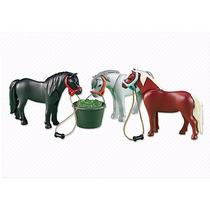 6256 Ponnies Con Comida Animales Granja Playmobil Ugo