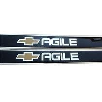 Jgo Soleiras Resinadas Chevrolet Agile 09/ Frete Gratis