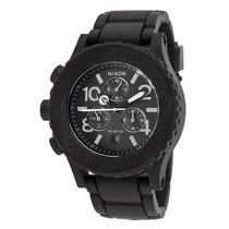 Reloj Nixon A309000-00 Es Rubber 42-20 Chrono Black Rubber