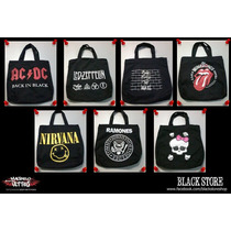 Bolsas Bandas De Rock Acdc, Pink Floyd, Rolling Stones, Led.