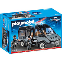 Playmobil Policía Furgón Con Luces Y Sonidos 6043 4-10 Años