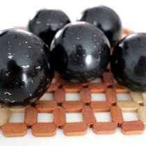 Esfera De Turmalina Negra. Bola De Cristal Turmalina Negra
