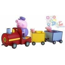 Peppa Pig Tren Trencito Abuelo 3 Figuras George En 12 Cuotas