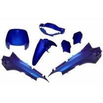 Kit Carenagem Honda Biz 100 Compatível 2001 Azul Metálico