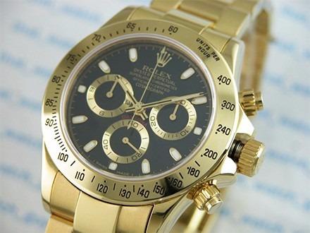 10da4b012aa Relogio Rolex Daytona Foleado A Ouro 18k - R  330