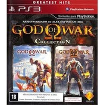 Jogo God Of War Collection 1 E 2 Ps3 Midia Fisica Original