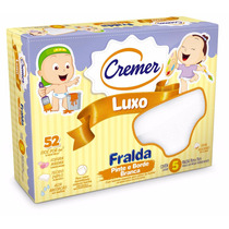 Fralda Pinte E Borde Cremer Luxo Branca Caixa C/ 5 Unid.