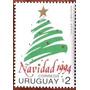 Osl Serie Sellos 1499a Uruguay Navidad 1994 Arbolito