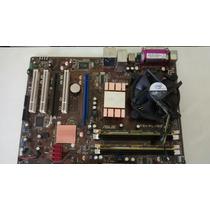 Kit Placa Asus P5kpl + 4gb Ddr2+ Processador Dual Core+ Cool