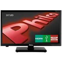 Tv Led 20 Philco Hd Receptor Integrado Hdmi Preta - Ph20u21d