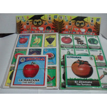 Gcg Lote 2 Juegos Loteria Frutas Verduras Ingles Español