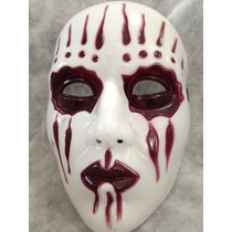 01 Máscara Joey(jordison) Slipknot Branca Com Lagrimas