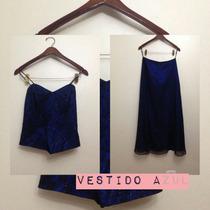 Vestido Azul Largo Para Fiesta