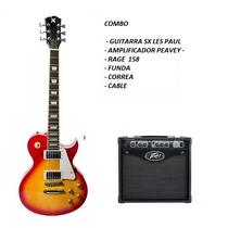 Guitarra Sx + Ampli Peavey Rage 158 + Correa + Funda+ Cable
