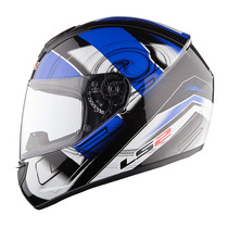 Casco Integral Ls2 Ff352 Action Blanco/ Azul Talla L 59-60cm