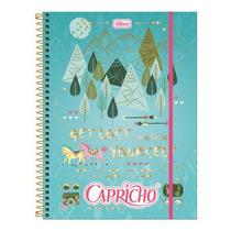 Caderno Universitário 5 Matérias Capricho Top Digi 160 Fls