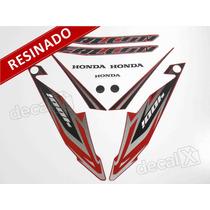Kit Adesivos Honda Falcon Nx4 2013 Vermelha - Resinado