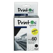 Cartucho Compatible Hp 60 Xl Negro Printon Incluye Iva