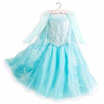 Disfraz Vestido Princesa Elsa Frozen Deluxe Disney Store Usa