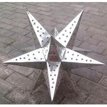 Lampara Estrella De Hoja De Lata De .70 Cm