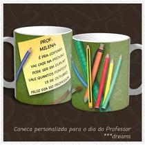 Caneca Personalizada Presente Dia Dos Professores Kit Com 3