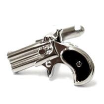 Mancuernillas Figura De Revolver Pistola Policia Acero