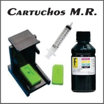 Kit Recarga Cartucho Hp Preto 100ml Snap 664/662/122/60/xl
