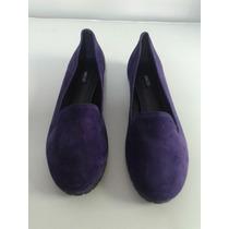 Sapato Fechado Arezzo Rasteiro Camurça Street Blue