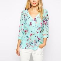 Blusa Camisa T-shirts Feminina Social Tres Quarto Importada