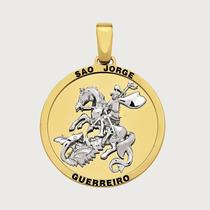 Pingente São Jorge Guerreiro Em Ouro 18k (750). Imagem De S