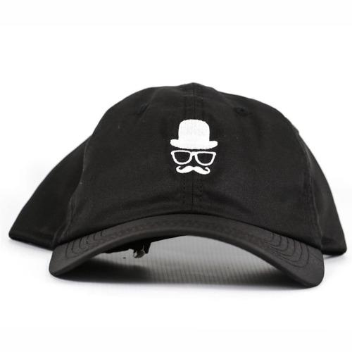 Boné Alfa Skate Dad Hats Barber Aba Curva Preto Mustache - R  34 0fa0e2ac49c