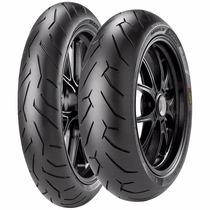 Pneu Radial Cb300 Diablo Rosso 2 Pirelli 110/70-17+140/70-17