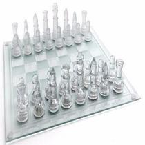 Jogo De Xadrez Em Vidros Peças Foscas E Transparentes