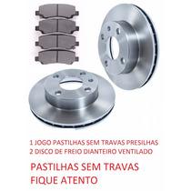 Disco Freio + Pastilhas Sem Presilhas Chery Face S18 1.3 16v