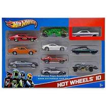 Carritos Hot Wheels Estuche De 10 Unidades Originales