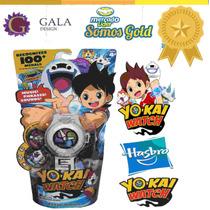 Yo-kai Watch Reloj Con 2 Medallas En Español. Hasbro Tv!!!!!