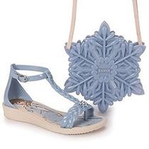 Sandália Frozen Glossy Bag 21508 - Azul