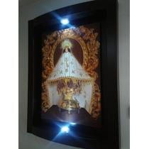 Cuadro Virgen De Juquila Con Luz Inalambrica