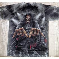 Remera -tribal - Yin Yang-azteca-hard Rock Xl Y Xxl