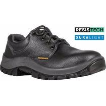 Zapato De Trabajo Obra Work Safe 34 A 47 Negro Amarillo Mf