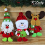 Decoración Rlucky - Papá Noel-snow-man Reno Muñeca - Hermos