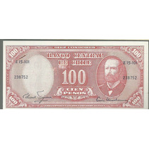 Chile 100 Pesos Con Sello 10 Centesimos